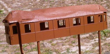 modellbahnfrokler umbau dreiachsiger eilzugwagen ab der k s chs sts e b. Black Bedroom Furniture Sets. Home Design Ideas
